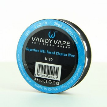 Superfine MTL Fused Clapton Wire NI 80 30gaX2 + 38ga Vandy Vape