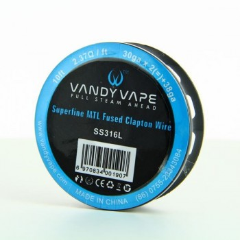 Superfine MTL Fused Clapton Wire SS316 30gaX2 + 38ga Vandy Vape