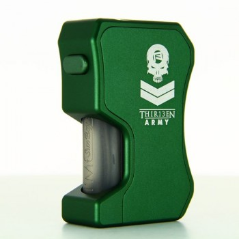 Box 13Mech Squonker Full Color Edition Dark Green Thir13en Modz