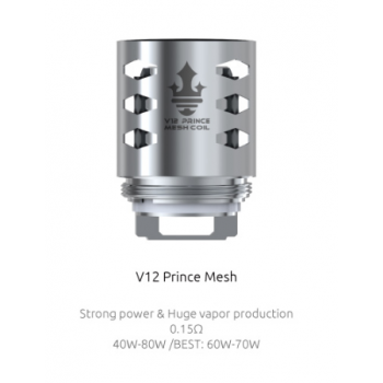 Pack de 3 resistances Mesh 0.15ohm TFV12 Prince Smoktech