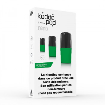 Pack de 3 Pods de 2ml Green Storm Le French Liquide KoddoPod
