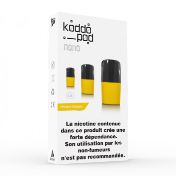 Pack de 3 Pods de 2ml Mangue Ananas Le French Liquide KoddoPod