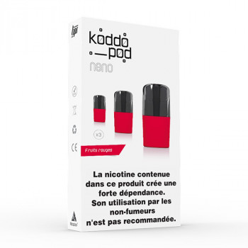Pack de 3 Pods de 2ml Fruits Rouges Le French Liquide KoddoPod