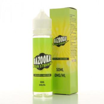 Green Apple Bazooka Sour Straws 50ml 00mg
