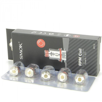 Pack de 5 résistances Quartz 1.2ohm RPM40 Smok