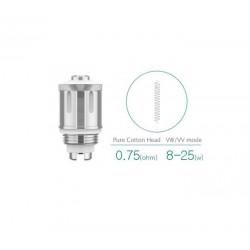 Pack de 5 resistances 0.75 ohms GS Air 2 Eleaf