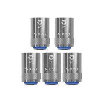 Pack de 5 resistances BF Ni200 0.2 ohms Joyetech