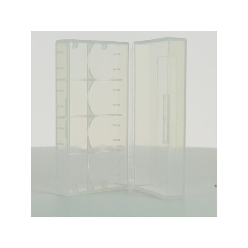 Boite 2 Accus 18650 Transparent