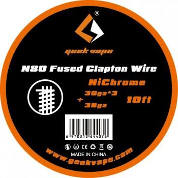 N80 Fused Clapton 30GAX3+38GA Bobine 3m GeekVape