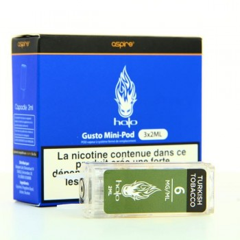 Pack 3 Pods 2ml Turkish Halo Aspire