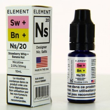 Strawberry Whip Banana Nut Nic Salts Element 10ml 20mg