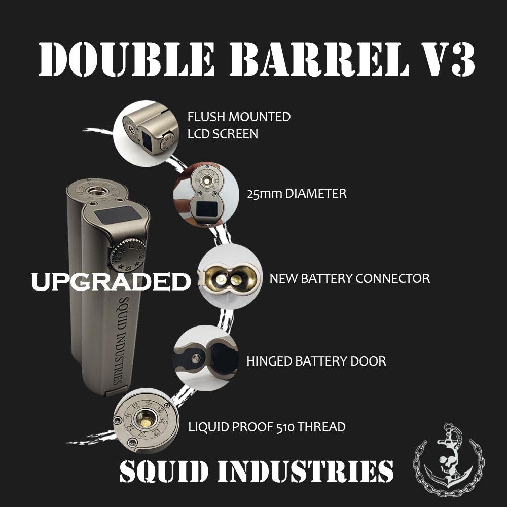 DoubleBarrel v3 main5 Squid Industries Mod Double Barrel V3 150W Xsmokers