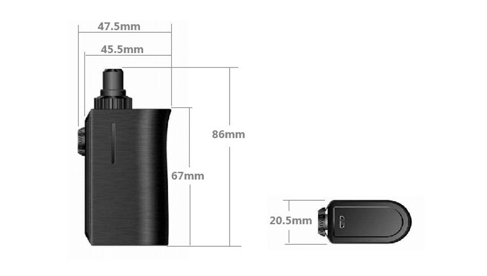 Squid Industries Squad 3 in 1 Pod Kit 04 Squid Industries Squad Tank Kit 1300mAh Xsmokers