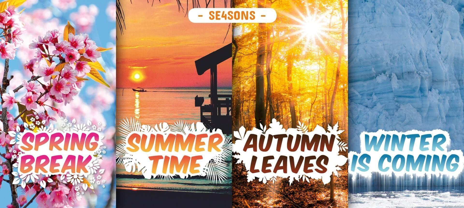 4 liquides qui vous feront voyager au fil des saisons...