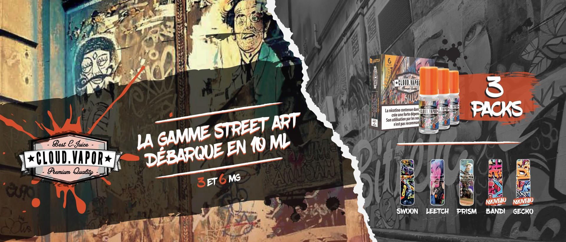 La gamme Street Art débarque en 3X10ML !